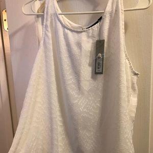 NWT white sleeveless blouse